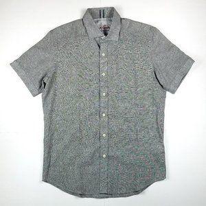 Robert Graham tailored fit linen cotton shirt M